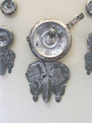 Xanten Horse-Phalerae - Image: Silvered bronze horse trapping from Xanten (BM)