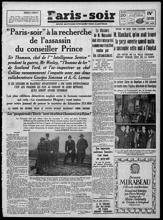 Jean Prouvost - Paris-Soir, 20 March 1934
