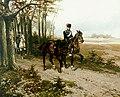 Simonis & Buunk – Hermanus Willem Koekkoek – Hussars and horse without rider.jpg