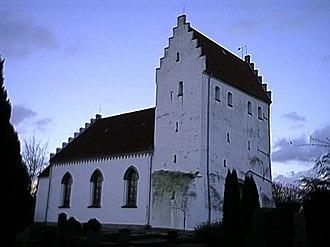 Simris Runestones - The church of Simris where the runestones were found.
