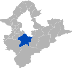 Location of Xindian within New Taipei City