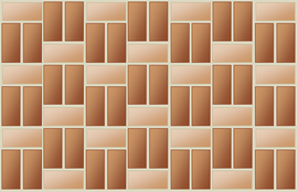 Single basket weave bond