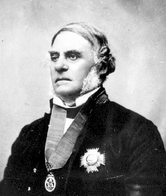 James Douglas (governor) - James Douglas with Order of the Bath honours