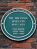 Sir michael balcon 1890 1977 film maker lived here 1927 1939