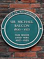 Sir Michael Balcon 1890-1977 film maker lived here 1927-1939.jpg