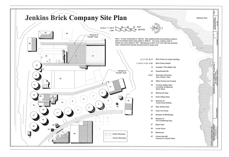 File site plan jenkins brick company plant no 2 for Site plan dimensions