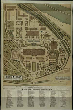 General Land Centennial Exhibition (1891) - Site plan