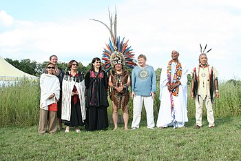 Shamans from several cultures at Shamanic Teac...