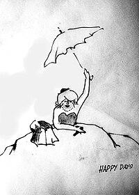 Sketch of scene in Happy Days (play) by Samuel Beckett.jpg