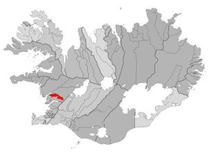 Skorradalshreppur - Image: Skorradalshreppur map