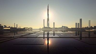 Im 1700 m hohen Sky Mile Tower könnten 55.000 Menschen siedeln