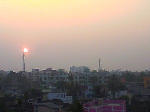 Rishra - Rishra from the top of a building