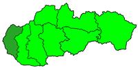 Poloha arcidiecéze bratislavské v rámci Slovenska