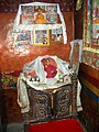 Small shrine honouring HH the 14th Dalai Lama. Dhankar Gompa.jpg