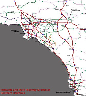 Southern California freeways Freeway system