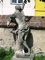 Socha svatého Šebestiána, sousoší sv. Anny, náhrobní pomník rodiny Schwabovy