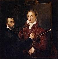 Sofonisba Anguissola - Bernardino Campi Painting Sofonisba Anguissola - WGA00696.jpg
