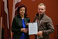 Solvita Āboltiņa tiekas ar Latvijas olimpisko komandu XXII Ziemas olimpiskajās spēlēs Sočos (12814649774).jpg