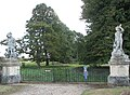 Somerleyton Hall - gate flanked by two sculptures - geograph.org.uk - 1506792.jpg