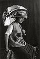 Sonia Delaunay wearing Casa Sonia creations, Madrid, c.1920.jpg