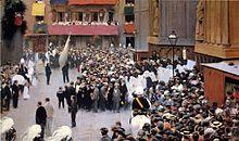 Procesión del Corpus de la Iglesia de Santa María, pintado porRamon Casas, se inspiraba en el atentado.