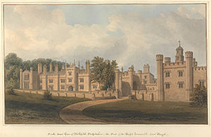Grade I listed buildings in Staffordshire - Image: South East View of Blithfield, Staffordshire, the Seat of the Right Honourable Lord Bagot