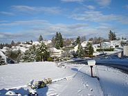South Salem neighborhood covered in snow