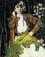 Spanish lady in green by A.Golovin (1906-7).jpg