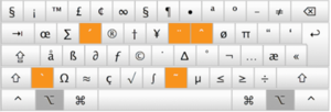 Alt key - Image: Special Characters Mac