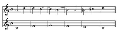 Un esempio di contrappunto di quarta specie (play MIDI[?·info])