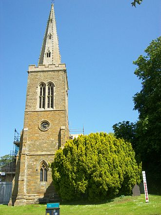 Naseby - All Saints church had a peak of baptisms in June 1837