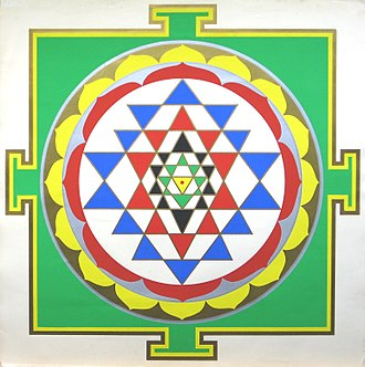 Yantra - Sri Yantra by Harish Johari using traditional colors