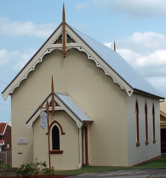 The old St Paul's Presbyterian Church. St-pauls-church-taree.jpg