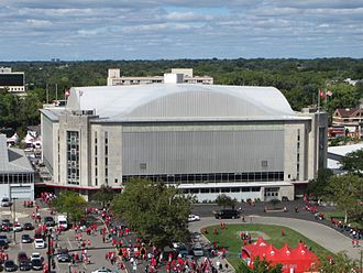 St. John Arena - Exterior view in 2014