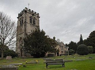 Nether Alderley village and civil parish in Cheshire, England
