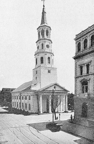 St. Michael's Episcopal Church (Charleston, South Carolina) - Image: St. Michael's Episcopal Church, Charleston, South Carolina (1919)
