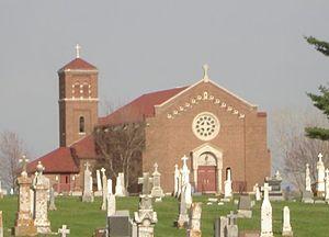 Key West, Iowa - St. Joseph's Church in Key West