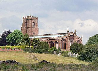 Holt, Wrexham County Borough - Image: St Chad's Church, Holt