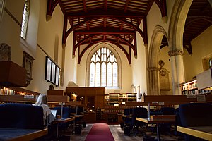 St Peter-in-the-East - The interior of St Peter-in-the-East, which is now the College Library of St Edmund Hall, University of Oxford