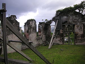 St. Phillip's Anglican Church (BVI) - The view from inside of the ruins of St Phillip's Church