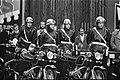 Staatsbezoek President Leone van Italie, motoragenten staan bij motoren, Bestanddeelnr 926-7660.jpg