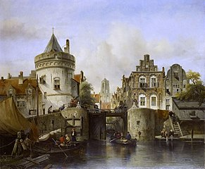 Imaginary View based on the Kolksluis, Amsterdam