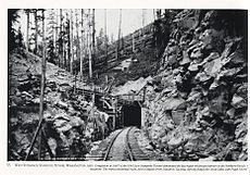 Entrance to the Stampede Pass Tunnel in the Cascade Mountains taken in 1980. Featured in This Week in Cascadia: May 27th - June 3rd