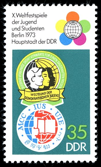 International Union of Students - Image: Stamps of Germany (DDR) 1973, Mi Nr 1866