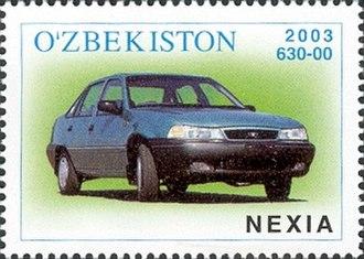 Uz-DaewooAuto - Daewoo Nexia stamp