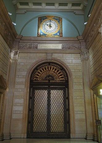 Charles Pratt - Pratt's name, written in stone in the Standard Oil Building lobby