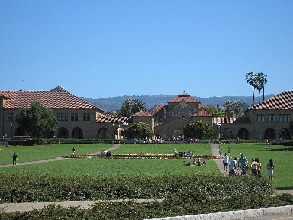 Stanford University view of the Oval