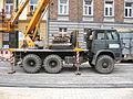Star 266-based cherry picker during reconstruction of Długa street in Kraków (1).jpg