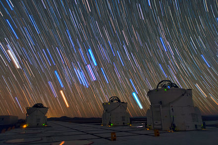 Star trails produced by long exposure photography in Chile.[31] - Photography
