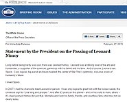 Statement by the President on the Passing of Leonard Nimoy